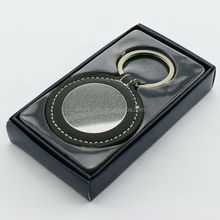 Business metal and leather keychain gift