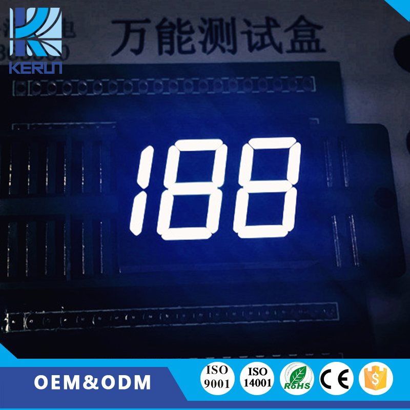 Short leadtime 188 white color anode 2digits 0.50inch led numeric display for indoor usage