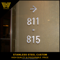 100% Manufacturer Competitive Price stainless steel door hotel signs