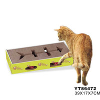 Corrugated Cardboard Turbo Cat Toys Interactive