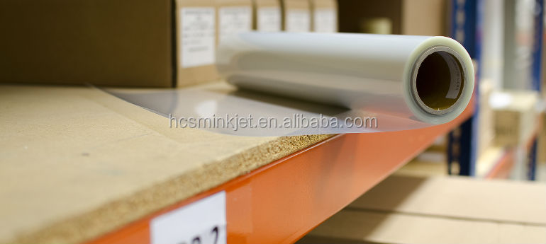 plastic film for inkjet printing