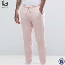 Wholesale new design blank pink joggers sweat pants with side pockets for men