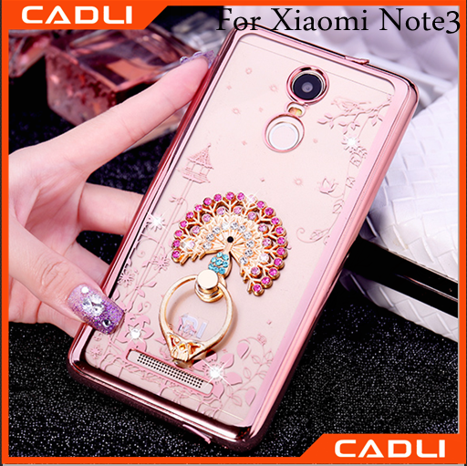 Hot sell book case for cell phone diamond phone case phone cover case for xiaomi hongmi redmi note 3