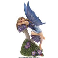 Tales of Avalon Fairy Resting on Toadstoll Lisa Parker/resin fairy figurines