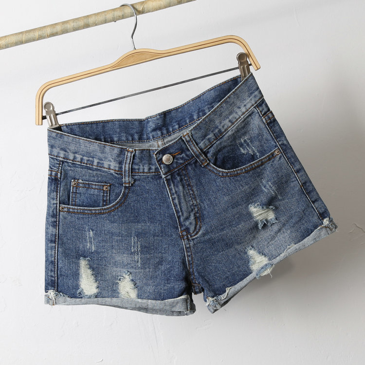 fashion style hot selling blue denim jean shorts