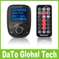 Bluetooth Handsfree MP3 Player Car FM Transmitter Kit with Remote Control