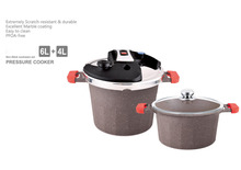 4L/6L NON-STICK ALUMINUM EXCELLENT PRESSURE COOKER WITH STAINLESS STEEL LID