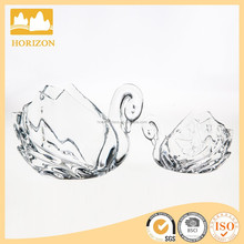 Fast Factory Supply Unique Home Decorative Glass Goods Swan Series/ Glass Ornaments