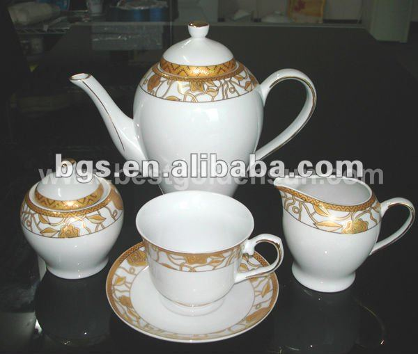 15pcs ceramic tea and sugar set