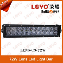 72W 4d lens led bar 13.5 inch high quality offroad led light bar with CE RoHs IP67 spot/flood/combo 12V car led flood light bar