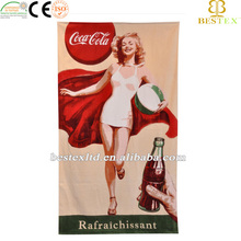 Hot Sales 100% Cotton Printed Full Sexy Photos Girls Beach Towel