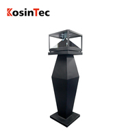 360 degrees view angle looping 1080p hd holographic screen totem player android 3d holography pyramid advertising display
