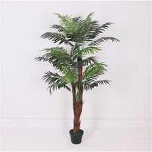 Indoor decorative evergreen artificial palm trees wholesale fake mini kwai tree potted