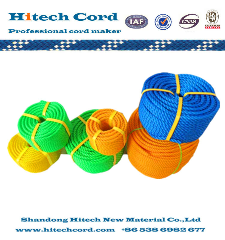 3 Strand Twisted Rope Type and PP Danline Polyester  Rope Twine