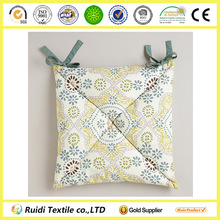 Promotion Mosaic Tile Printed Cotton Chair Seat Cushion With Belt