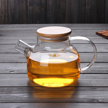Wholesale eco-friendly double wall glass teapot transparent water pot