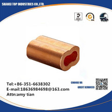 Loos Cableware Plain Copper Duplex Oval Crimping Sleeve