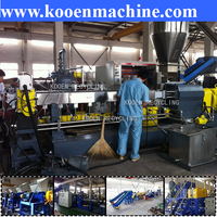 PEPP film plastic crusher washer dryer and plastic recycling pelletizing line