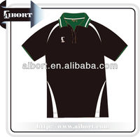 rib collar polo shirts