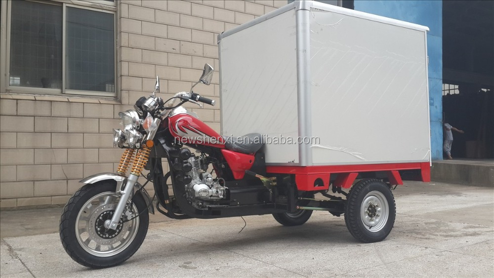 Big Power 150cc Three Wheel Cargo Tricycle With Cool Box For Sale