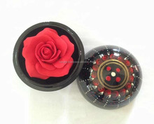 Amazing handmade red soap rose flower design of Thailand with hand painted case + gift box