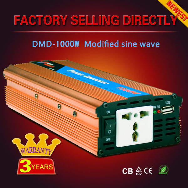 1500w 12v/24v Off grid High frequency dc to ac power electric inverter for house