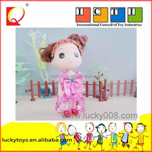 beautiful 3 inch cute mini doll for Children plush toy