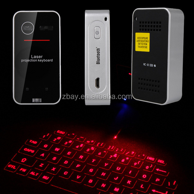 Best Portable Red Diode Laser Projection Virtual Rechargeable mini keyboard for linux