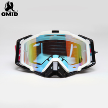Good quality printed frame colorful mirror custom MX motocross goggles