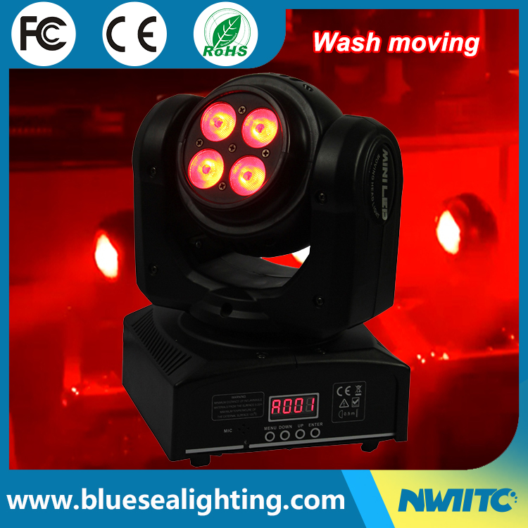 Weeding club 8*10w mini double led wash dmx moving head light
