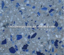 Crystal glass chips for terrazzo
