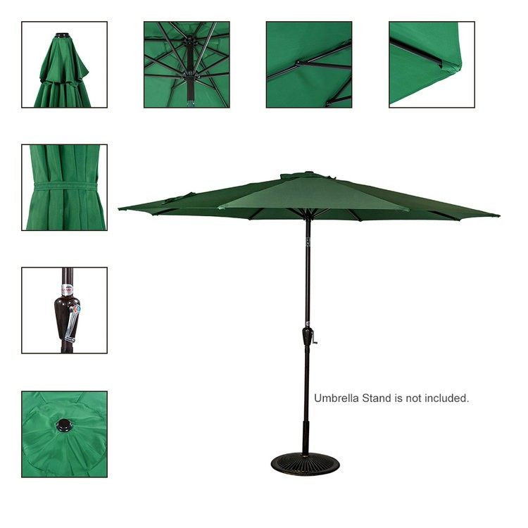 Tilt Double Top Crank Aluminum Patio Umbrella wholesale custom umbrella