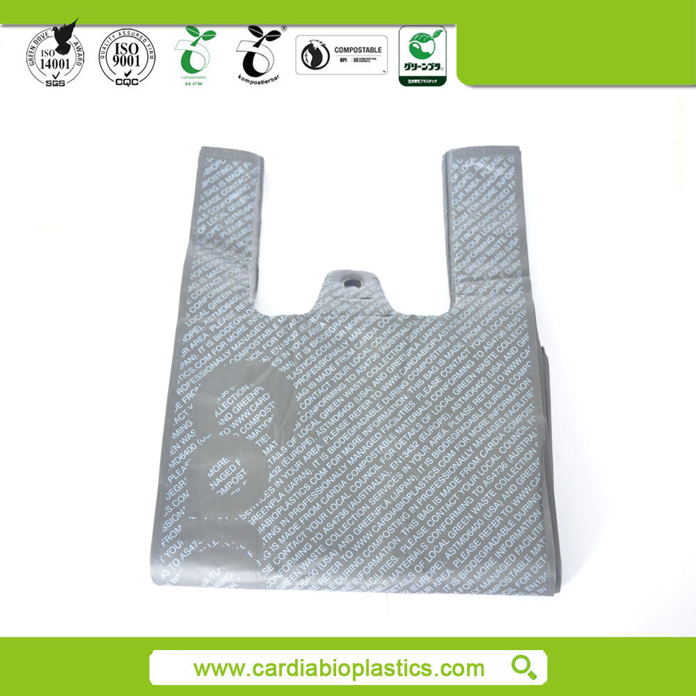 biodegradable shopping plastic bags with customized printing