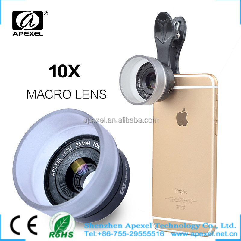 2016 trending external camera for smart phones magnifying glass HD 10x mobile lens