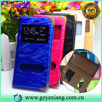 double window smart filp cover for samsung galaxy core prime g360 leather case