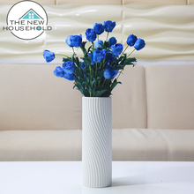 Wholesale European style home decoration glaze white ceramic decor vases