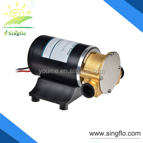 Singflo 12v dc 14L/min gear oil pump /hydraulic gear pump dispenser for heavy machinery