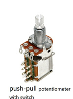 b500k rotary potentiometer with push-pull switch sound control b500k rotary potentiometer