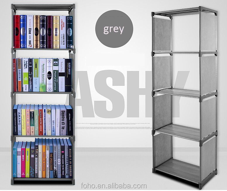 5 layer bookcases new design folding book shelf