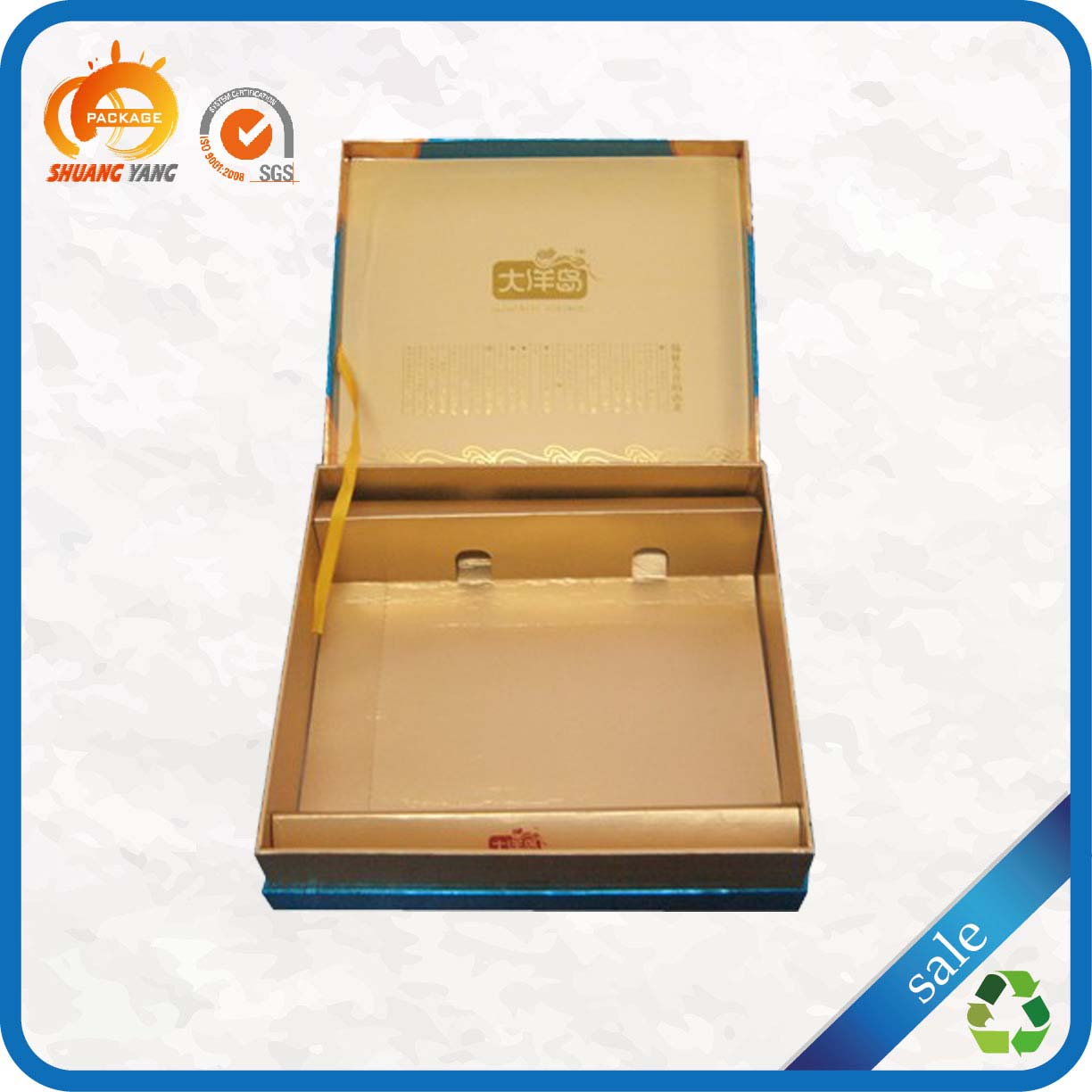 New design high quality decorative hinged cardboard gift box