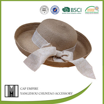 fashion design big brim lady raffia straw hat