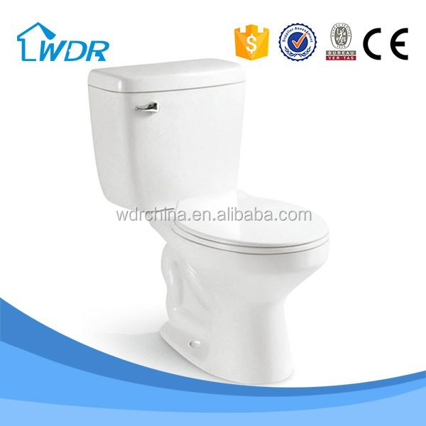 Bathroom siphonic floor mounted european water closet new model