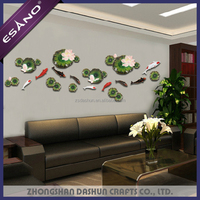 New designs interior 3D fish embossed wall painting