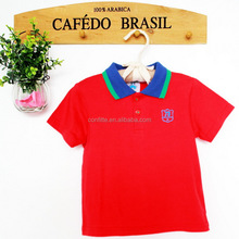 2016 cheap wholesale custom baby plain red blank polo t-shirt