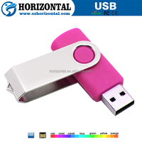 Hotselling Free LOGO Multi color swivel USB flash drive yellow corn price