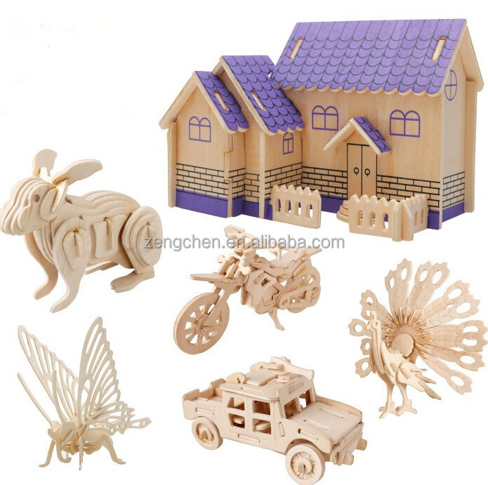 2016 Hot Sale Promotional Gifts Wooden 3D puzzle,Educational puzzle toy, 3D Wooden Puzzle