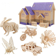 2017 Hot Sale Promotional Gifts Educational Wooden Toy 3D Puzzle