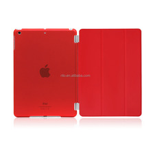 Full Protector Leather Hard Smart Cover and Rubberized Back Case for iPad Pro 9.7 Case, Detachable, Red