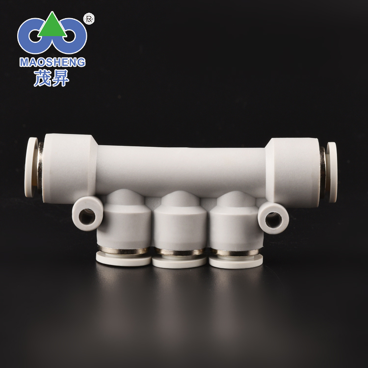 High precision standard plastic pneumatic fittings