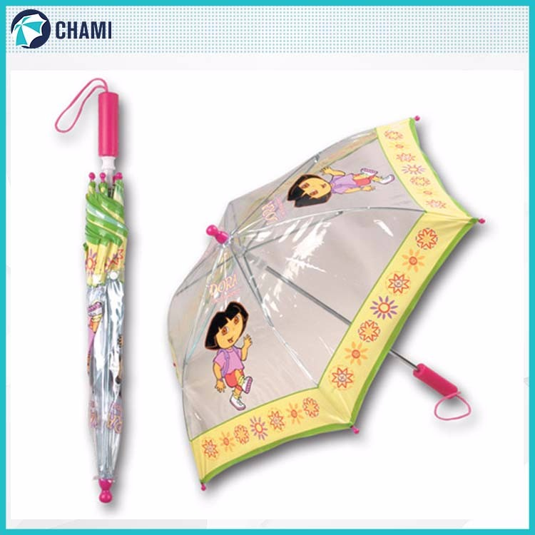 Factory price manufacturer safety transparent umbrella for kids